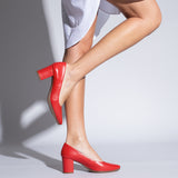 URBAN S SALON- RED MID HEEL