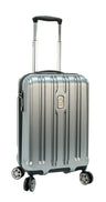 "Delsey ChromeTec 21.5"" Carry-On Spinner Luggage - Silver"
