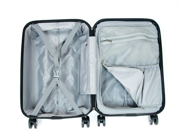 Delsey ChromeTec 3 Piece Expandable Spinner Luggage Set
