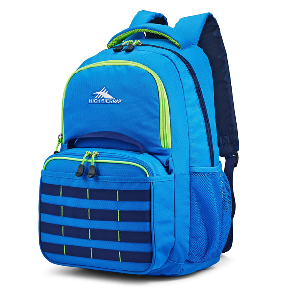 High Sierra Joel Kit sac à dos et boîte à lunch - Sport Blue/True Navy/Lime