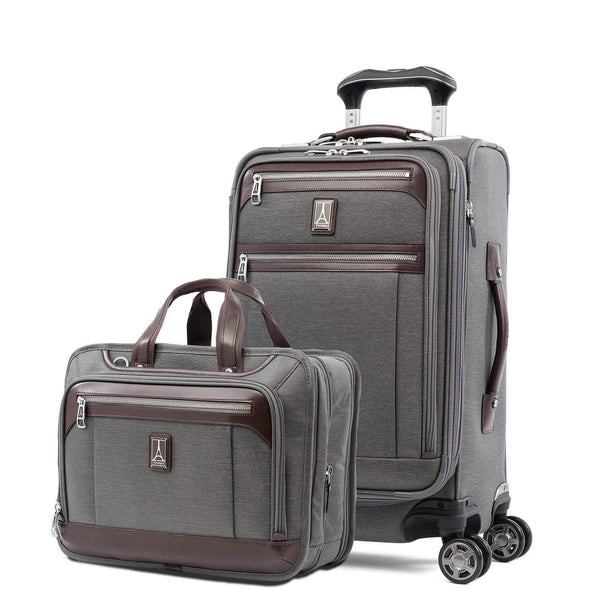Travelpro Platinum Elite: Trend Setter - Ensemble de bagage de cabine et de porte-documents - Gris