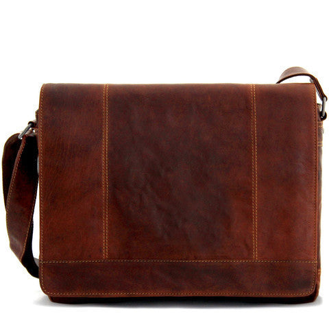 Jack Georges Voyager Sac Messager Large - Brun