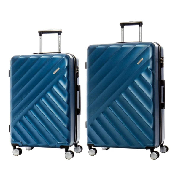 American Tourister Crave Collection Ensemble de 2 valises extensibles spinner (valises moyenne et grande) - Bleu