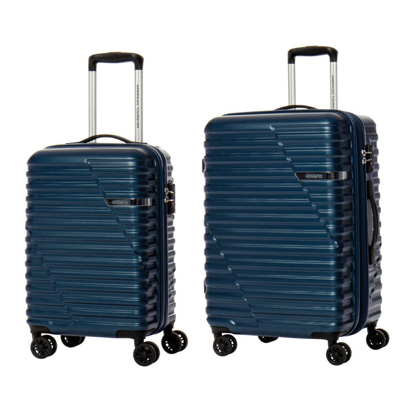 American Tourister Sky Bridge Collection Ensemble de 2 valises (bagage de cabine et valise moyenne) - Marine