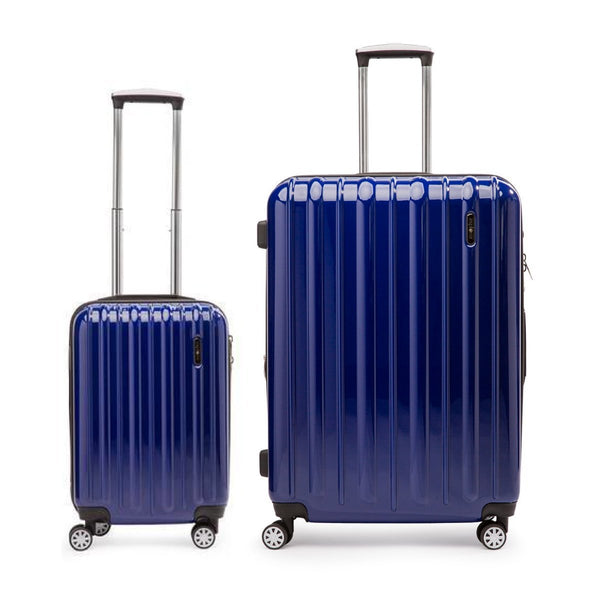 Explorer Classic Collection Ensemble de 2 valises spinner - Bagage de cabine et grande valise - Bleu