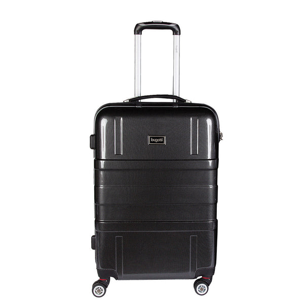 Bugatti Hard Case - Valise verticale rigide spinner taille cabine 20 pouces - Noir