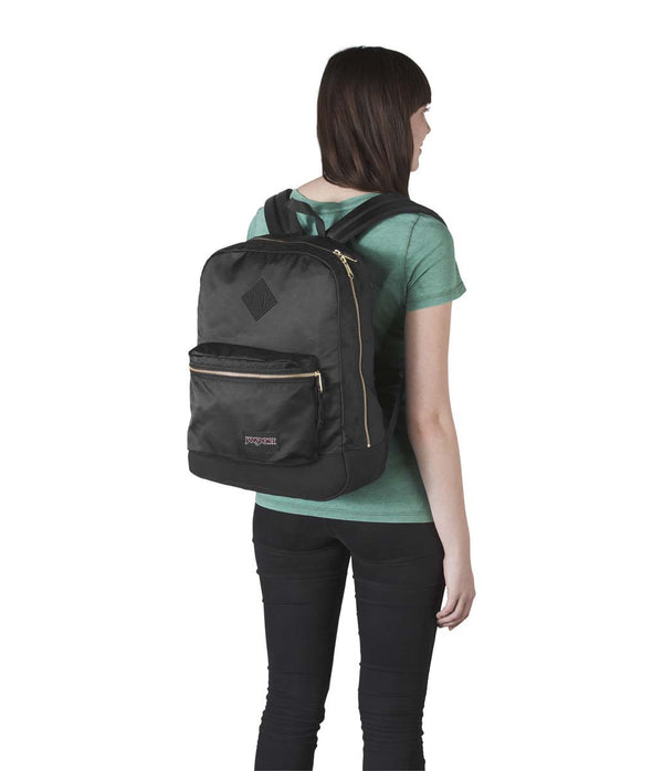 JanSport Super FX Sac à dos - Black/Gold