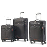 American Tourister Fly Light Ensemble de 3 valises extensibles spinner - Noir