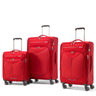 American Tourister Fly Light Ensemble de 3 valises extensibles spinner - Rouge