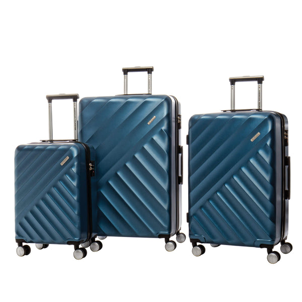American Tourister Crave Collection Ensemble de 3 valises extensibles spinner - Bleu