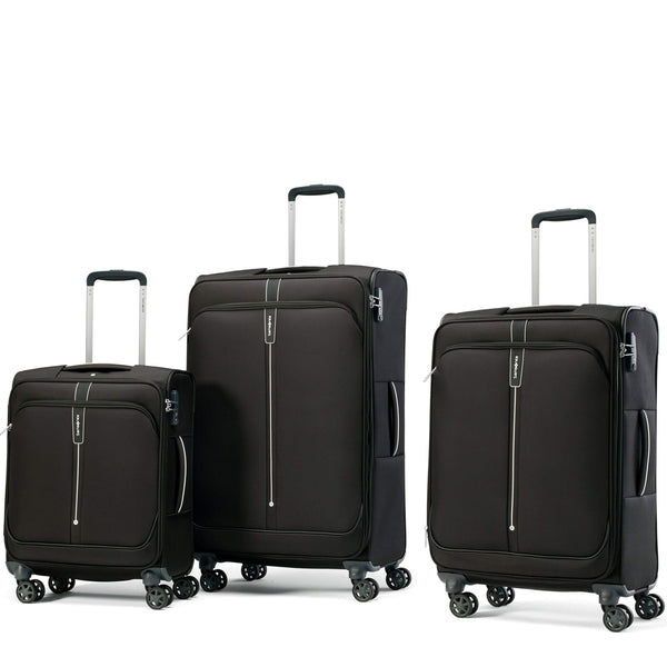 Samsonite Popsoda Ensemble de 3 valises extensibles spinner - Noir
