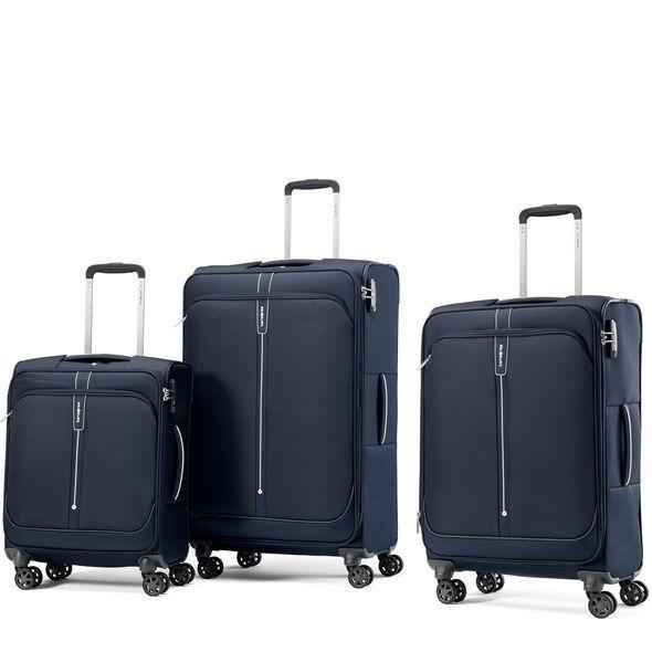 Samsonite Popsoda Ensemble de 3 valises extensibles spinner - Marine