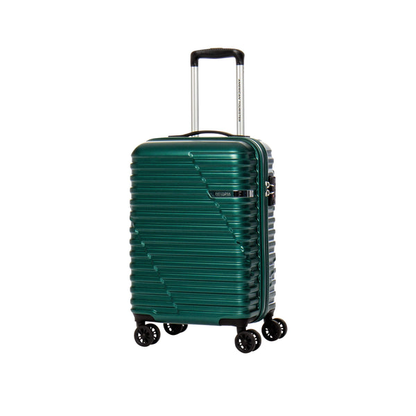 American Tourister Sky Bridge Collection Ensemble de 2 valises spinner (bagage de cabine et valise moyenne) - Vert
