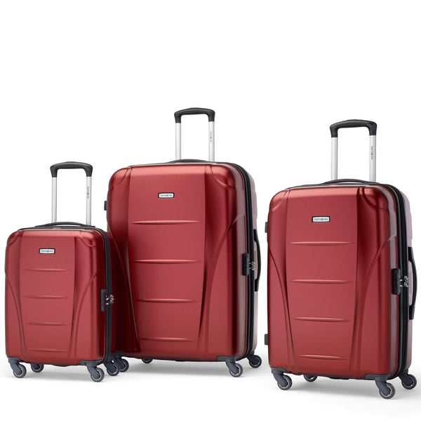 Samsonite Winfield NXT Ensemble de 3 valises extensibles spinner - Rouge foncé