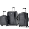 Samsonite Winfield NXT Ensemble de 3 valises extensibles spinner - Noir brossé