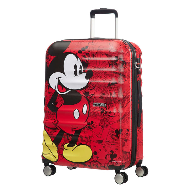 American Tourister Disney Wavebreaker Valise moyenne spinner - Mickey Comics Red