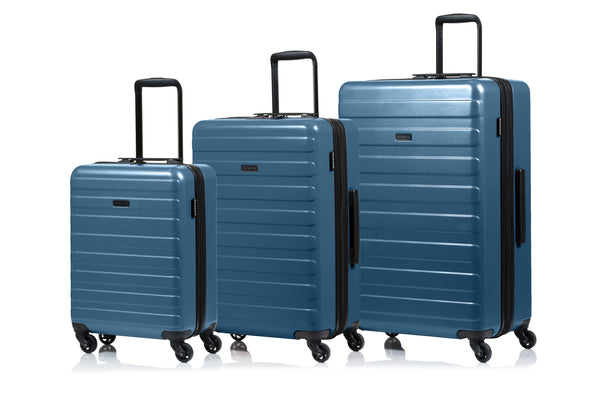 Champs Fire Collection Ensemble de 3 valises extensibles spinner - Bleu