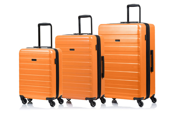 Champs Fire Collection Ensemble de 3 valises extensibles spinner - Orange