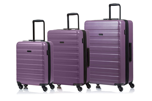 Champs Fire Collection 3 Piece Spinner Luggage Set - Mauve
