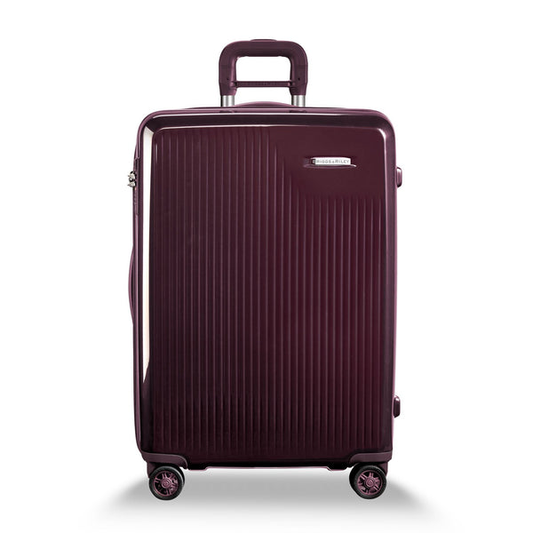 Briggs & Riley Sympatico Valise Moyenne Extensible avec Roulettes Spinner - Plum