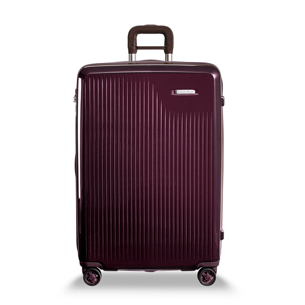 Briggs & Riley Sympatico Valise Large Extensible avec Roulettes Spinner - Plum