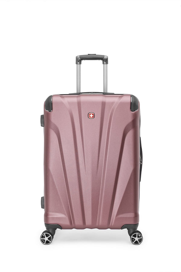 "Swiss Gear Global Traveller Collection Valise de 24"" extensible spinner - Vieux rose"