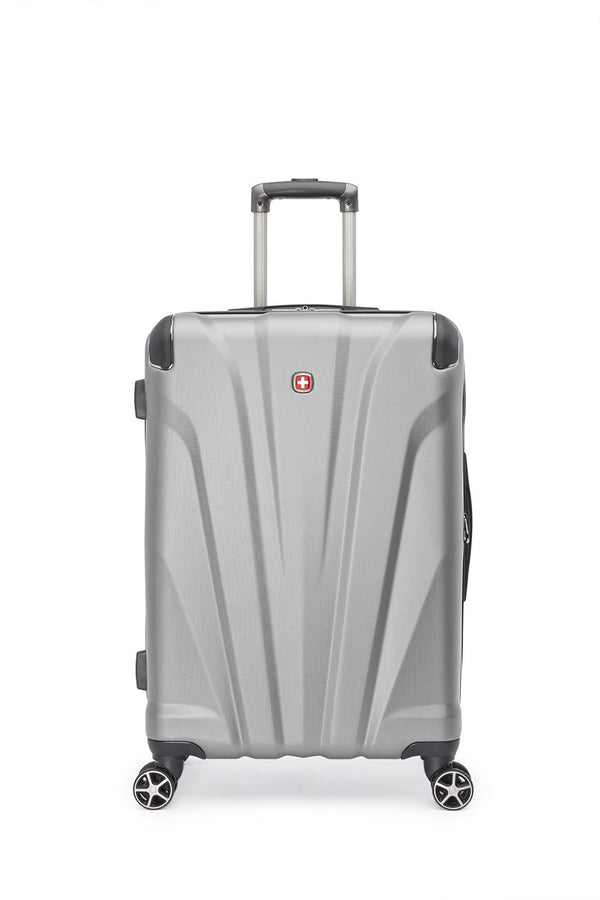 "Swiss Gear Global Traveller Collection Valise de 24"" extensible spinner - Argent"