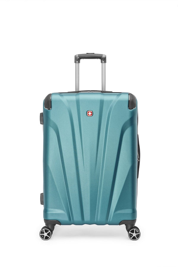 "Swiss Gear Global Traveller Collection Valise de 24"" extensible spinner - Sarcelle"