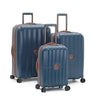 Delsey St. Maxime 3 Piece Expandable Spinner Luggage Set - Navy