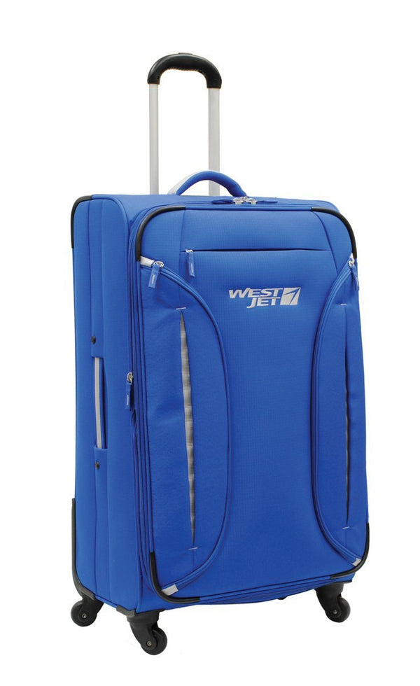 WestJet Feather Lite Grande valise souple extensible spinner - Bleu
