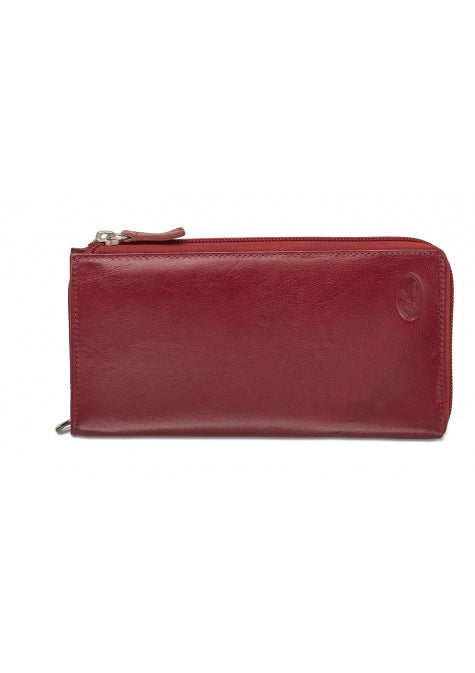 Mancini Collection EQUESTRIAN-2 Portefeuille Clutch pour dames - Rouge