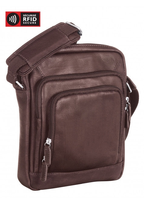 Mancini Collection COLOMBIEN Sac fourre-tout unisexe pour tablette - Brown