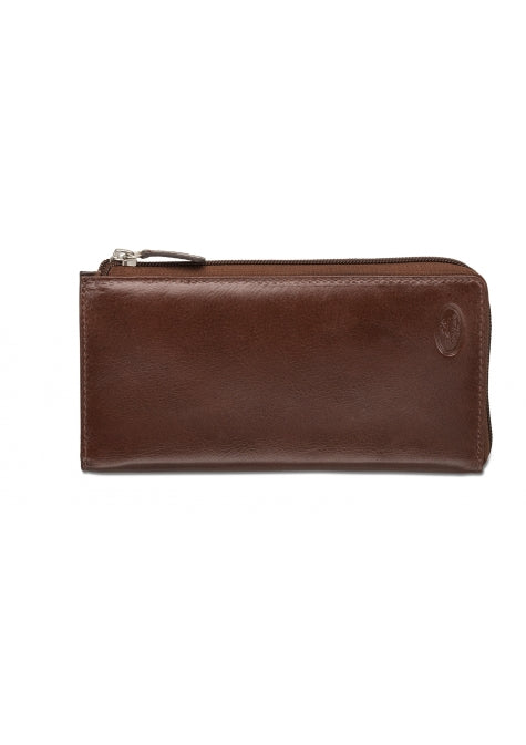 Mancini Collection EQUESTRIAN-2 Portefeuille Clutch pour dames - Brun