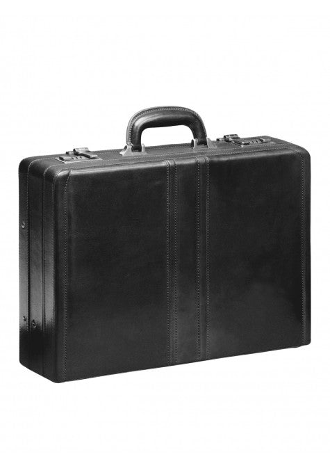 Mancini Collection SIGNATURE Attaché-case extensible de luxe - Noir