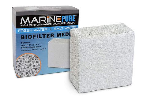 "Marine Pure bio filter media (8x8x4"" Block)"