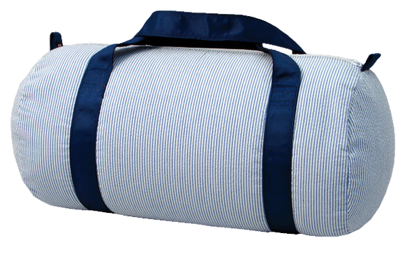 Seersucker Medium Duffel Bag - Navy