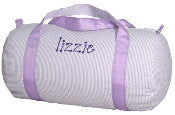 Seersucker Medium Duffel Bag - Lilac