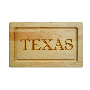 "Maple Leaf Personalized Cutting Board - 13"" Rectangle"