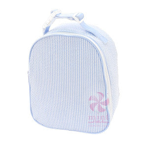 Mint Seersucker Gum Drop Lunchbox - Baby Blue