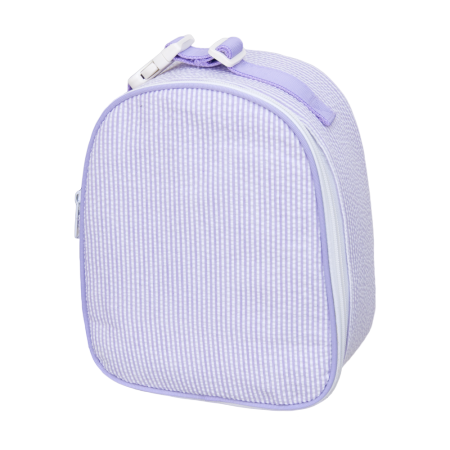 Mint Seersucker Gum Drop Lunchbox - Lilac