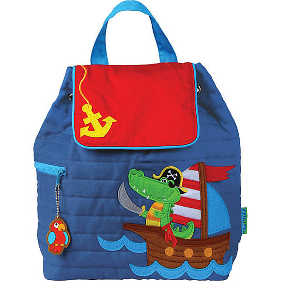 Stephen Joseph Quilted Backpack - Alligator Pirate