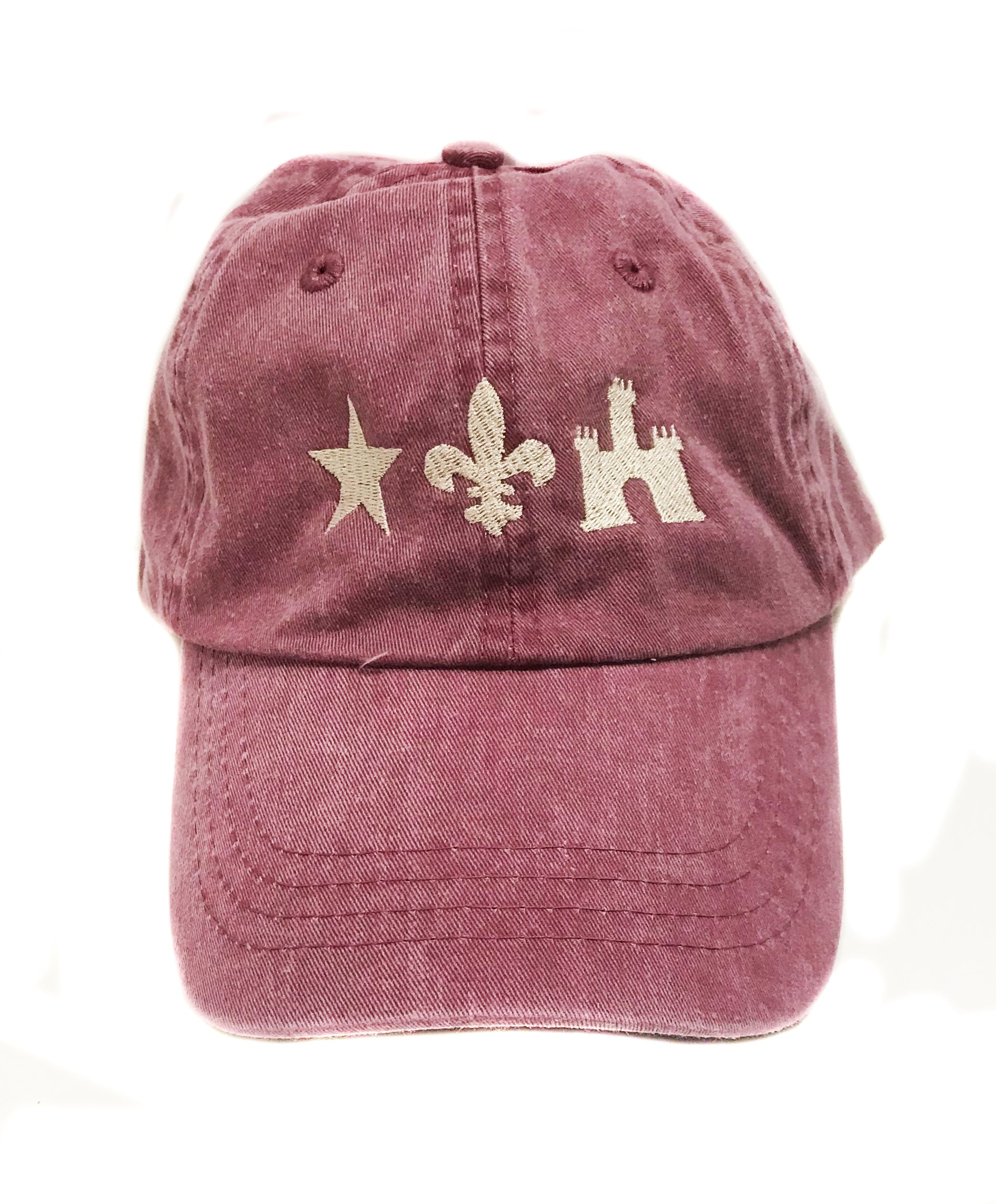 Hat- Acadian Flag Distressed Red