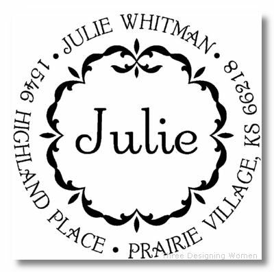 Personalized Stamp - Wreath