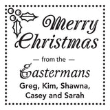Personalized Stamp - Christmas Holly