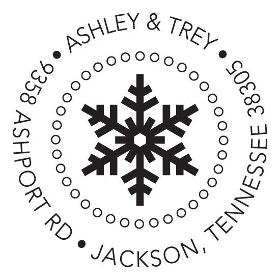 Personalized Stamp - Snowflake