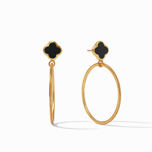 Julie Vos Earrings  - Chloe Cirque (Obsidian Black)