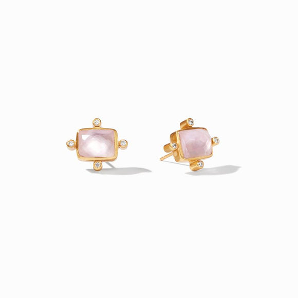 Julie Vos Earrings  - Clara Stud (Iridescent Rose)