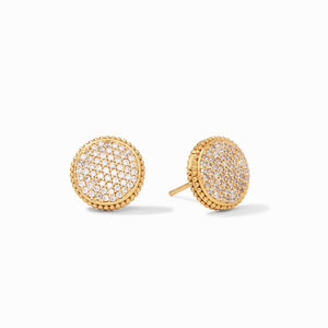 Julie Vos Earrings  - Fleur de Lis Pave Stud