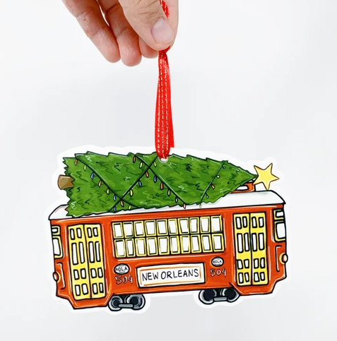 Ornament - Christmas Streetcar