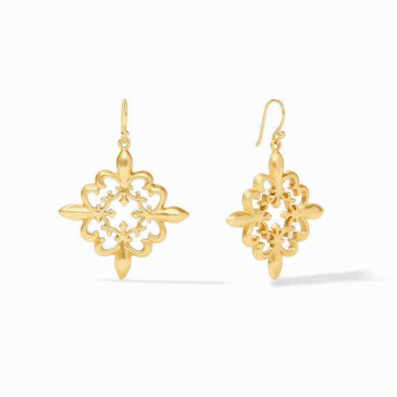 Julie Vos Earrings  - Fleur-de-Lis Lace